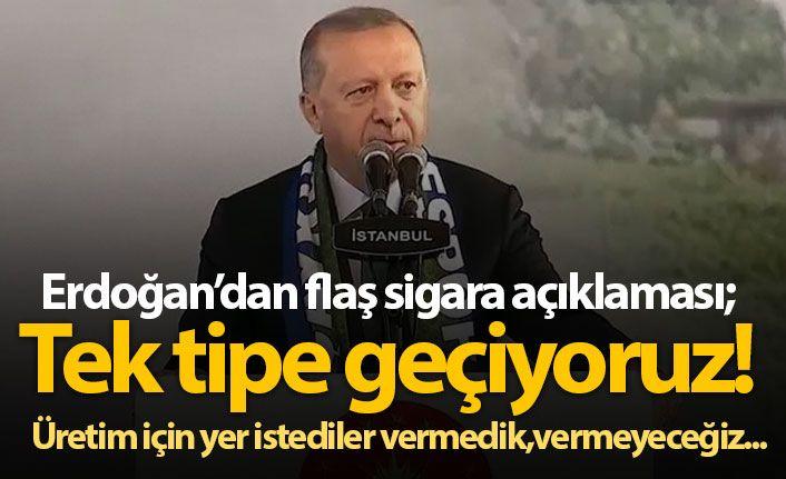 Cumhurbaşkanı Erdoğan'dan 'sigara' açıklaması