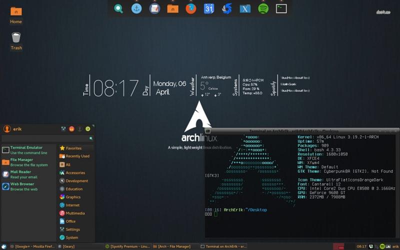 Hackerların Tercih Ettiği 10 Popüler İşletim Sistemi Arch Linux
