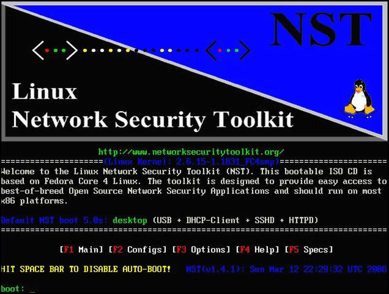 Hackerların Tercih Ettiği 10 Popüler İşletim Sistemi Network Security Toolkit