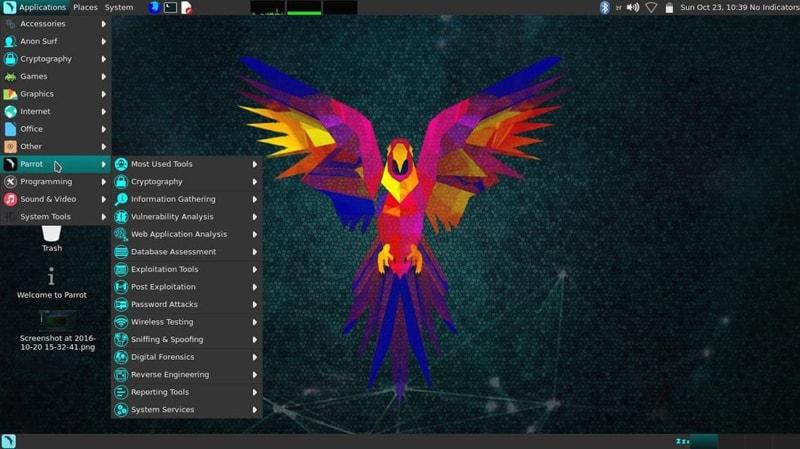 Hackerların Tercih Ettiği 10 Popüler İşletim Sistemi Parrot Security OS