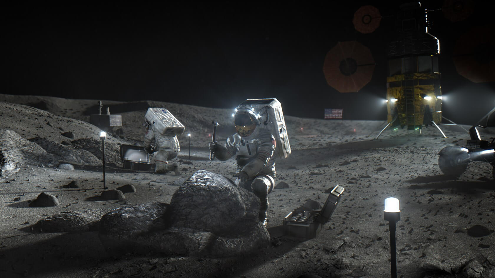 NASA, Ay'a İnsanlı İniş Görevi İçin 3 Şirketle Anlaştı