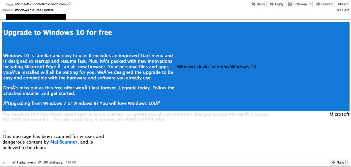 Sahte Windows 10 Güncelleme Uyarısına Dikkat!