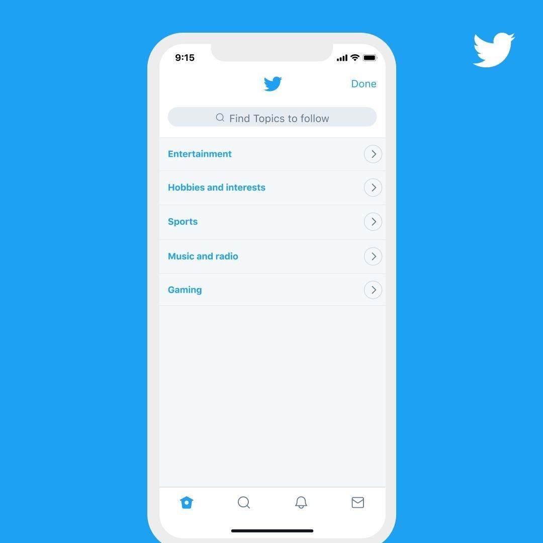 Twitter Üzerinde İlgi Alanlarını Takip Etmek Kolaylaşacak